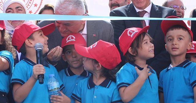 Erdoğan, Yıldırım ve öğrenci arasında esprili diyalog