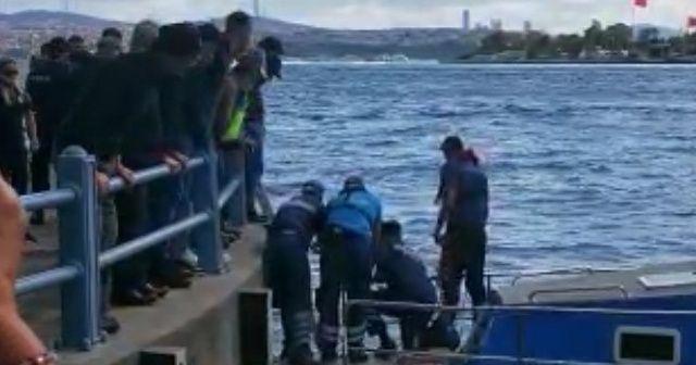 Galata Köprüsü'nden atlayan kadını turist kurtardı