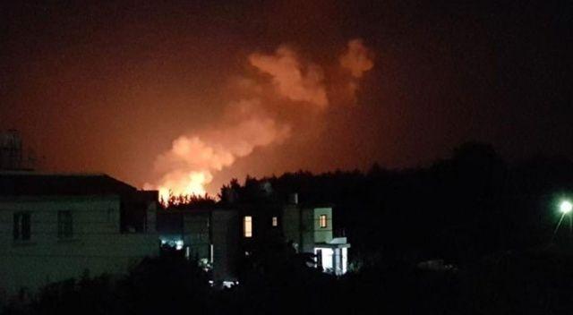 Girne'de askeri alanda patlama