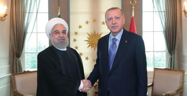 Cumhurbaşkanı Erdoğan ile İran lideri Ruhani  görüştü