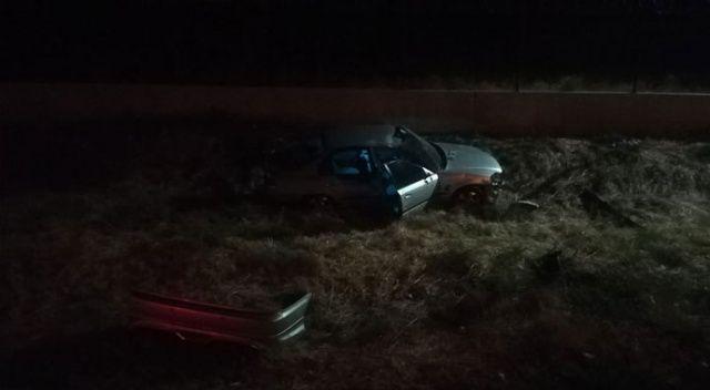 İzmir'de otomobil şarampole uçtu: 1 ölü