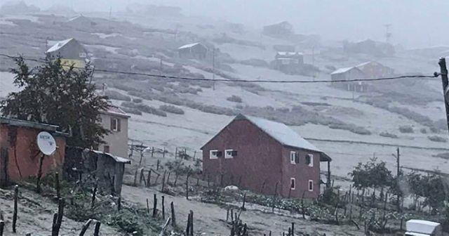 Kar Karadeniz'de yüzünü gösterdi