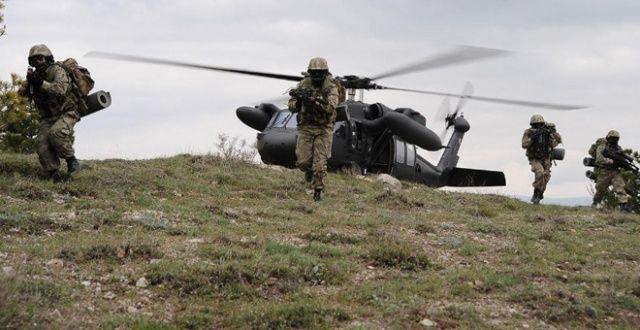 Kırsalda hava operasyonu: 3 terörist öldürüldü