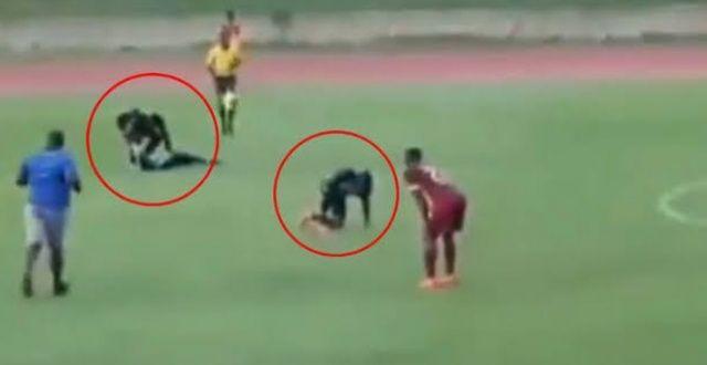 Maç sırasında oyunculara yıldırım çarptı