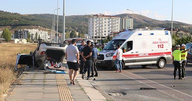 Sivas'ta trafik kazası: 4 yaralı