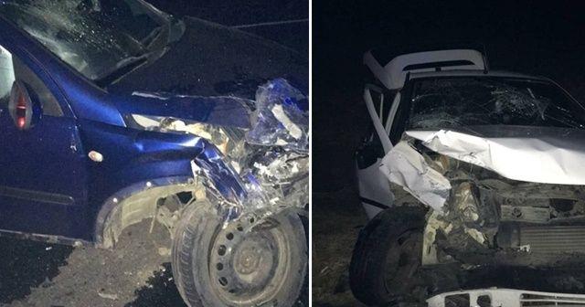 Tekirdağ'da otomobiller kafa kafaya çarpıştı: 4 yaralı