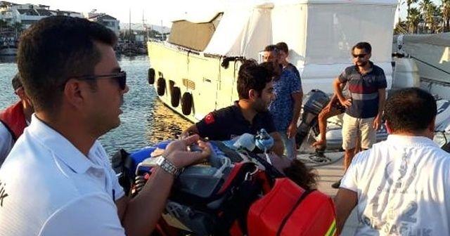 Teknede kalp krizi geçiren kadın öldü