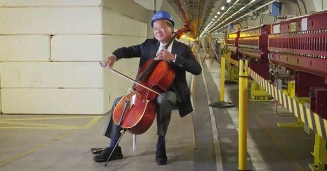 Ünlü viyolonist, CERN´de 100 metre derinde Bach çaldı