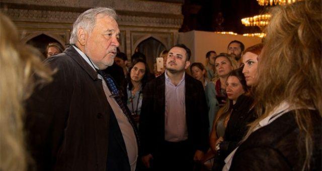 Üst düzey turizm yöneticileri Prof. Dr. İlber Ortaylı ile Ayasofya'yı gezdi