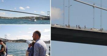 15 Temmuz Şehitler Köprüsü'ndeki intihar girişimi trafiği felç etti