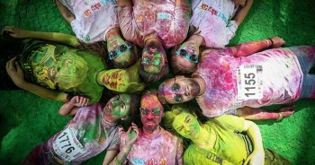 Bursa'da 'renkli koşu festivali'
