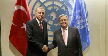 Cumhurbaşkanı Erdoğan, BM Genel Sekreteri Guterres'le görüştü