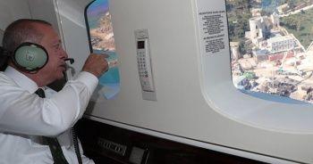 Cumhurbaşkanı Erdoğan helikopterden Yassıada'daki çalışmaları inceledi