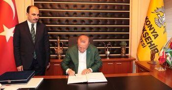 Cumhurbaşkanı Erdoğan Konya Büyükşehir Belediyesini ziyaret etti