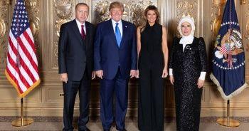 Cumhurbaşkanı Erdoğan, Trump tarafından verilen resepsiyona katıldı
