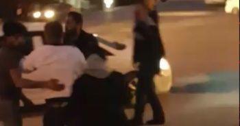 Kazaya karışan motosiklet sürücü dövüldü