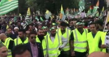 Londra'da Hindistan karşıtı protesto