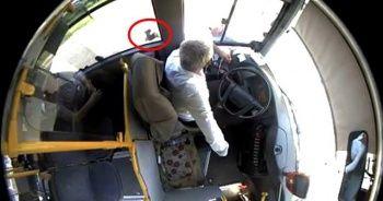Otobüs şoförünü baltayla tehdit etti
