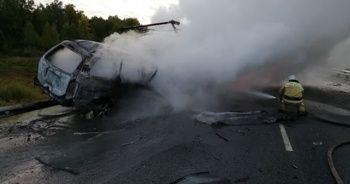 Rusya'da feci kaza: 3 kişi yanarak öldü