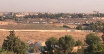 Teröristlerin konteyner konvoyu Suriye sınırında görüntülendi