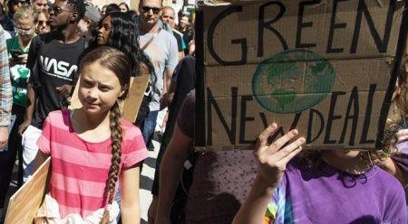 ABD'de 16 yaşındaki iklim aktivistine katılan binlerce kişi gösteri yaptı