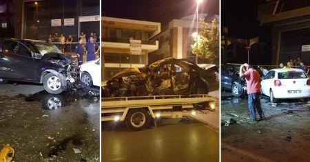 Antalya'da feci kaza: 2 ölü, 6 yaralı