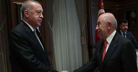 Cumhurbaşkanı Erdoğan, TFF Başkanı Özdemir'i kabul etti