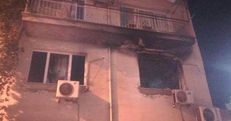 İzmir'de buzdolabı patladı