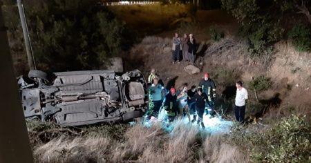 Kontrolden çıkan otomobil şarampole devrildi: 1 yaralı