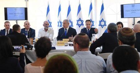 Netanyahu'dan işgal altındaki Filistin toprağında kabine toplantısı