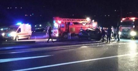 Otobüs otomobile çarptı: 1 ölü, 1 yaralı