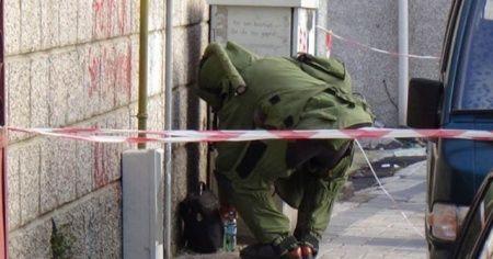Yol kenarında bulunan patlayıcı imha edildi
