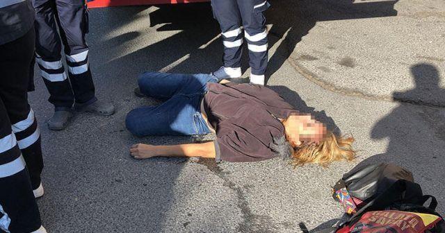 'Yerde yatan kadın' alarmı! Polisler hemen harekete geçti