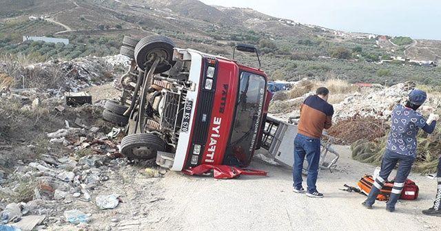 Avşa Adası'nda itfaiye aracı devrildi: 1 ölü