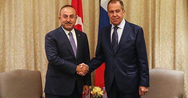Bakan Çavuşoğlu ve Lavrov, Suriye'yi görüştü