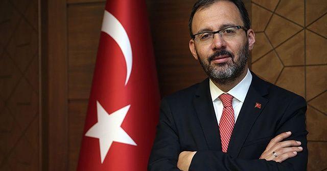 Bakan Kasapoğlu, Ahmet Nur Çebi'yi tebrik etti