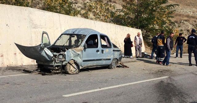 Çankırı'da trafik kazası: 1 ölü, 2 yaralı