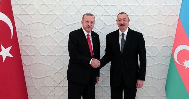 Cumhurbaşkanı Erdoğan, İlham Aliyev ile görüştü! İşte ilk kareler... .