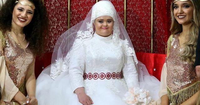 Down sendromlu Rabia'nın 'gelinlik' hayali gerçek oldu