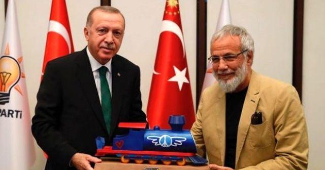 Dünyaca ünlü sanatçıdan Cumhurbaşkanı Erdoğan'a hediye