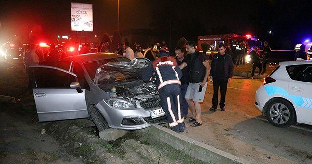 Düzce'de trafik kazası: 1 ölü, 3 yaralı