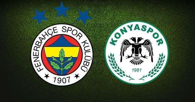 Fenerbahçe - Konyaspor Maçı Canlı İzle! FB KONYA Maçı Canlı Skor Kaç Kaç? Beinsports1 şifresiz Canlı İzle