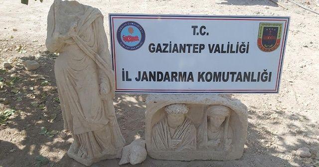 Gaziantep'te Roma dönemine ait tarihi eserler ele geçirildi