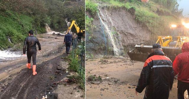 Giresun'da sağanak yağış etkili oldu, bir kişi kayıp