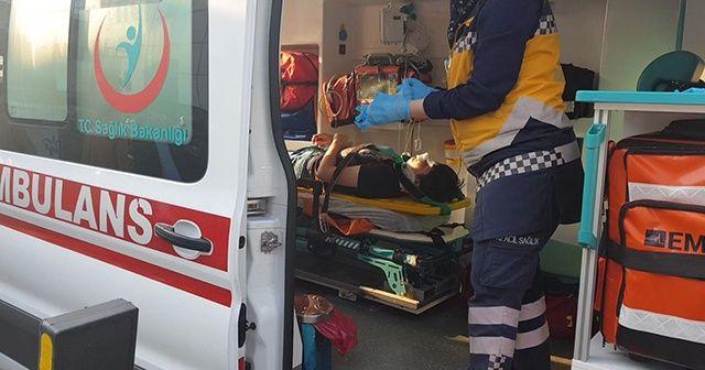 Halk otobüsünün çarptığı öğrenci yaralandı