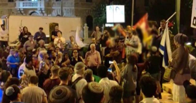İsrail'de terör örgütü YPG/PKK'ya destek gösterisi