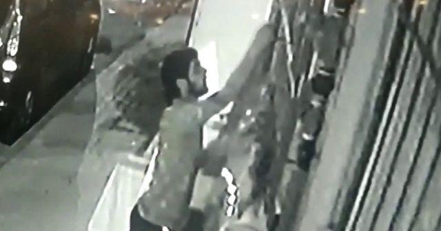 Kıyafet hırsızı kameraya yakalandı
