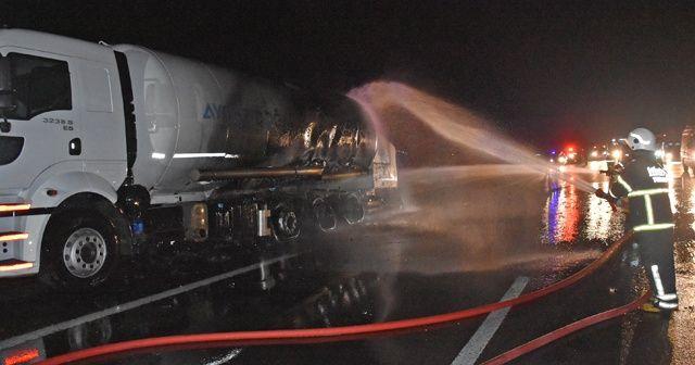 LPG tankerinde yangın!