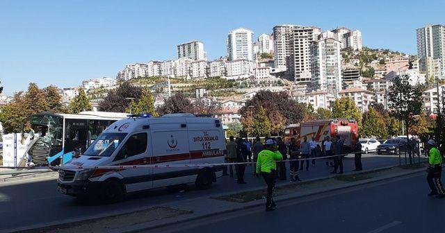 Mamak'ta yayalara çarpan otobüs şoförü tutuklandı