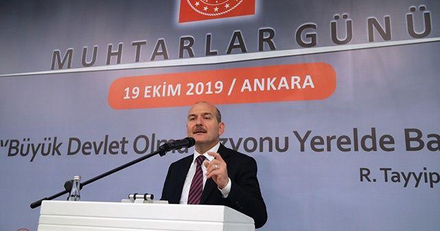 """Süleyman Soylu """"Türkiye'yi PKK'ya, YPG'ye alıştırma politikaları tutmamıştır"""""""